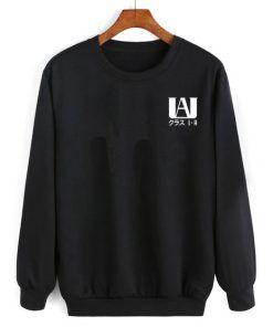 My Hero Academia High Student Black Sweatshirt Unisex