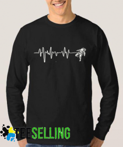 Space Heartbeat Sweatshirt Adult Unisex Size S-3XL