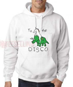 To The Disco Unicorn Riding Hoodie Adult Unisex Size S-3XL