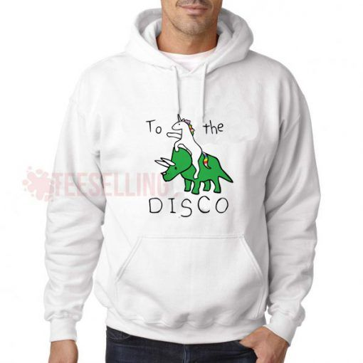 To The Disco Unicorn Riding Hoodie Adult Unisex Size S 3XL