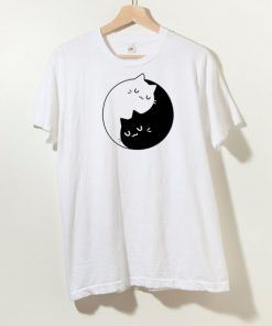 Ying Yang Cat T shirt Adult Unisex Size S-3XL