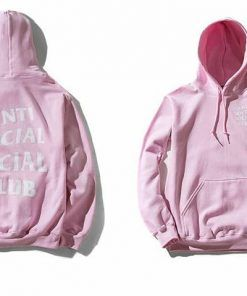 Anti Social Social Club Pink Hoodie Adult Unisex Size S-3XL