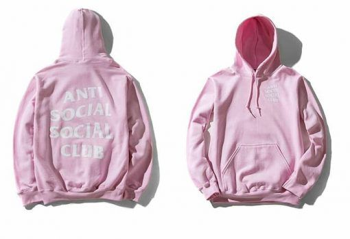 Anti Social Social Club Pink Hoodie Adult Unisex Size S 3XL