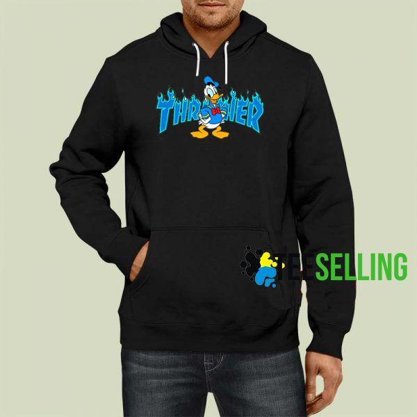 83cd22a2b3e Thrasher Parody Donald Duck Hoodie Adult Unisex Size S-3XL