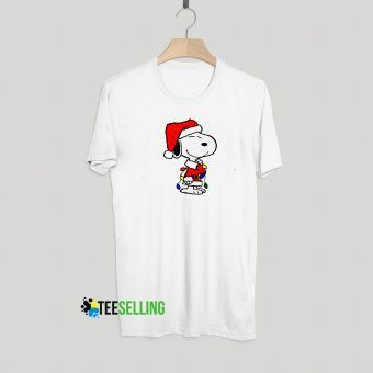 Snoopy Christmas T Shirt Adult Unisex Size S-3XL