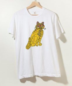 Abba Yellow Cat Unisex Adult T Shirt Size S-3XL