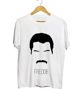 Freddie Mercury Face T Shirt Adult Unisex