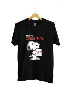 Snoopy Merry Christmas 1st Unisex Adult T shirt For Men And Women