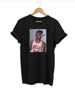 Michael Jordan Cigar T shirt Adult Unisex