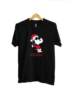 Snoopy Chillin Christmas Unisex Adult T shirt