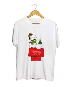 Snoopy Christmas Time Unisex Adult T shirt For Men And Women