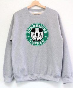 Starbucks Mickey Coffee Sweatshirt Adult Unisex Size S-3XL