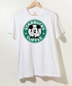 Starbucks Mickey Coffee T shirt Adult Unisex Size S-3XL