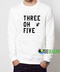 Three Of Five Miami Heat Sweatshirt Adult Unisex Size S-3XL