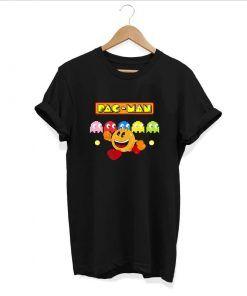 Yellow Glutton pacman Unisex Adult T shirt