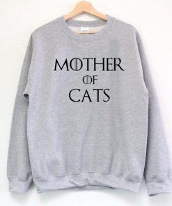 Mother Of Cats Sweatshirt Adult Unisex Size S-3XL