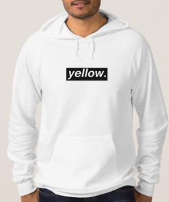 Yellow Letter Adult Unisex Hoodie Size S-3XL