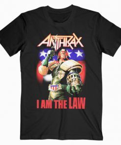 Anthrax I Am The Law Band T-Shirt Adult Unisex Size S-3XL