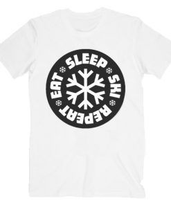 Eat Sleep Ski Repeat T shirt Unisex Adult Size S-3XL