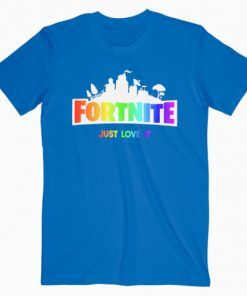 Fortnite Just Love It Rainbow T-Shirt Adult Unisex Size S-3XL