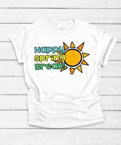 Happy Spring Break Summer T shirt Unisex Adult Size S-3XL