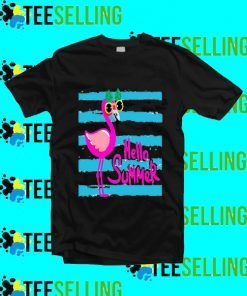 Hello Summer Flamingo T shirt Adult Unisex Size S-3XL