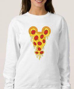 Mickey Pizza Sweatshirt Adult Unisex Size S-3XL