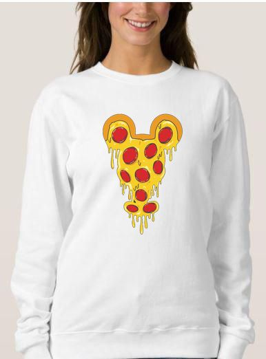 Mickey Pizza Sweatshirt Adult Unisex Size S 3XL