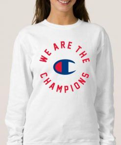 Queen X Champion We Are The Champions Sweatshirt Unisex Adult Size S-3XL