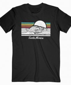 Santa Monica Beach T-Shirt Adult Unisex Size S-3XL