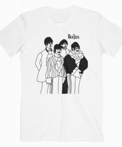 The Beatles Group T-Shirt Adult Unisex Size S-3XL