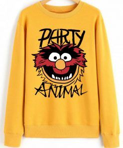 The Muppets Party Animal Sweatshirt Size S-3XL