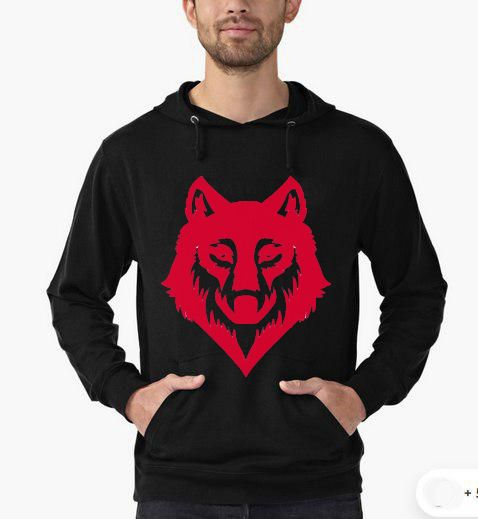 The Wolf Pack Red Hoodie Adult Unisex