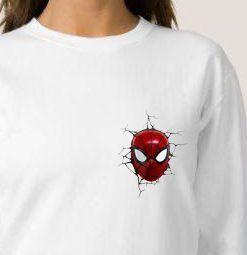 Comic Marvel Face SpiderMan Pocket Cheap Graphic Tees Sweatshirt Unisex