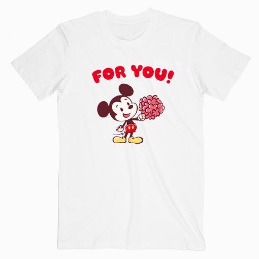 Disney Valentines T shirt Cute Graphic Tees T shirt Unisex Adult