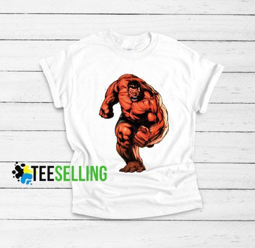 Red Hulk Marvel Comics Cheap Graphic Tees T shirt Unisex Adult