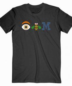 Eye Bee IBM Cute Graphic Tees T shirt Unisex Adult