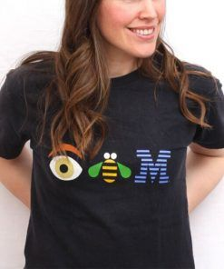 Eye Bee IBM Cute Graphic Tees T shirt Unisex Adult