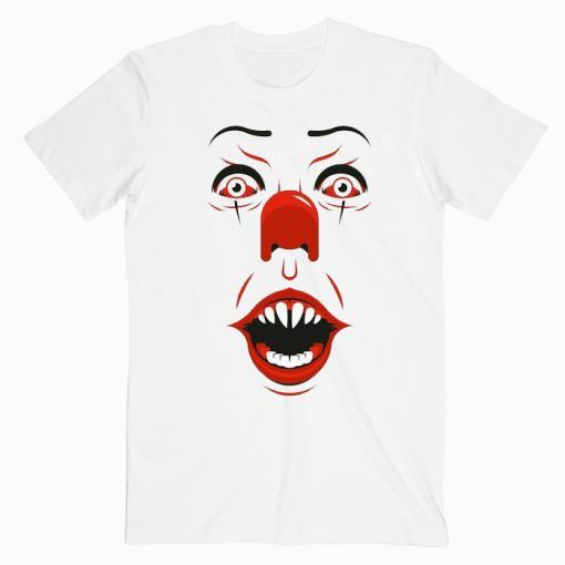 IT Pennywise Face Cute Graphic Tees T shirt Unisex Adult