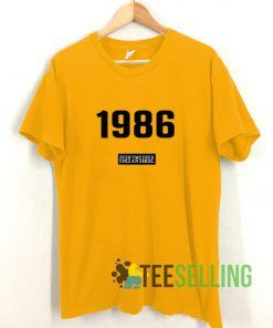 1986 Printed T shirt Unisex Adult Size S-3XL
