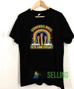 Stonewall Riots Anniversary Rainbow T shirt Unisex Adult Size S-3XL