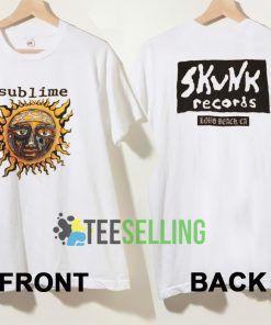Sublime Skunk Records T shirt Unisex Adult