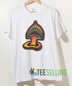 Vintage 90s Psychedelic mushroom T shirt Unisex Adult Size S-3XL