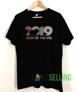 2019 year of the pig vintage T shirt Unisex Adult Size S-3XL