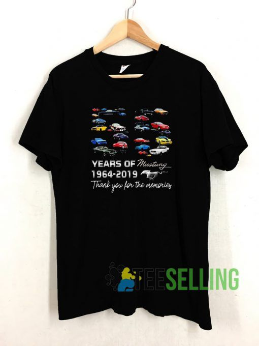 55 Years Of Mustang Unisex Adult Size S 3XL