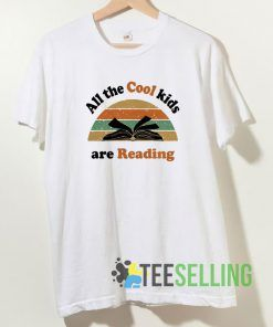 All the cool kids are reading vintage T shirt Unisex Adult Size S-3XL