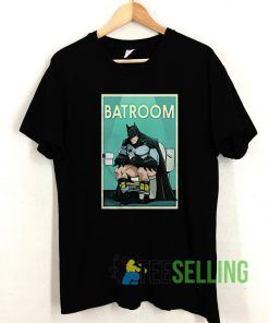 Batroom Poster Batman T shirt Adult Unisex Size S-3XL