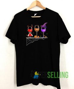 Halloween Glasses Of Wine T shirt Unisex Adult Size S-3XL