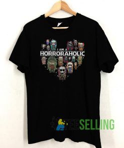 Horror Aholic Halloween T shirt Unisex Adult Size S-3XL