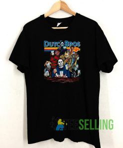 Horror Character Dutch Bros Coffee T shirt Unisex Adult Size S-3XL